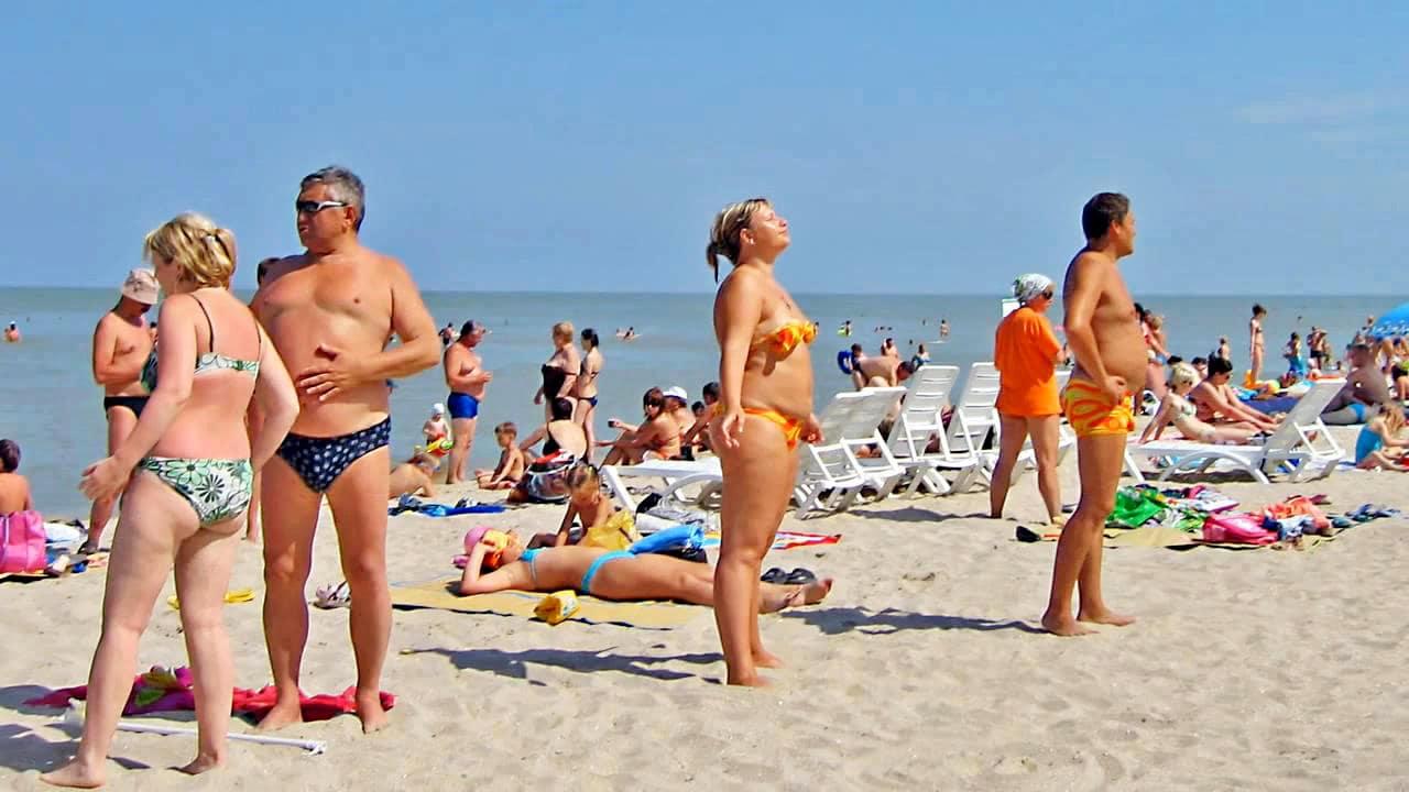 пляж Новоотрадное Крым